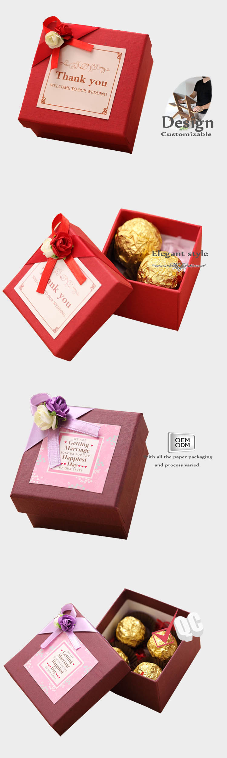 wedding candy boxes factory