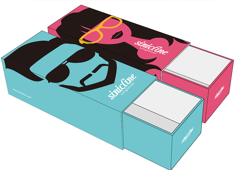 Sunglass packaging boxes
